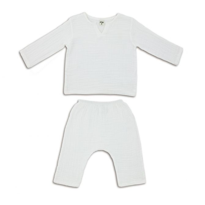 Suit Zac shirt & pants white - Numero 74