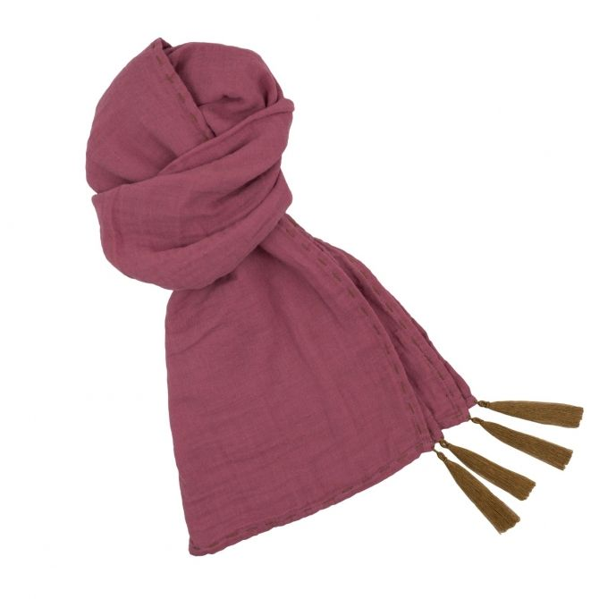 Numero 74 Scarf flashy baobab rose
