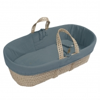 Moses Basket bed linen ice blue