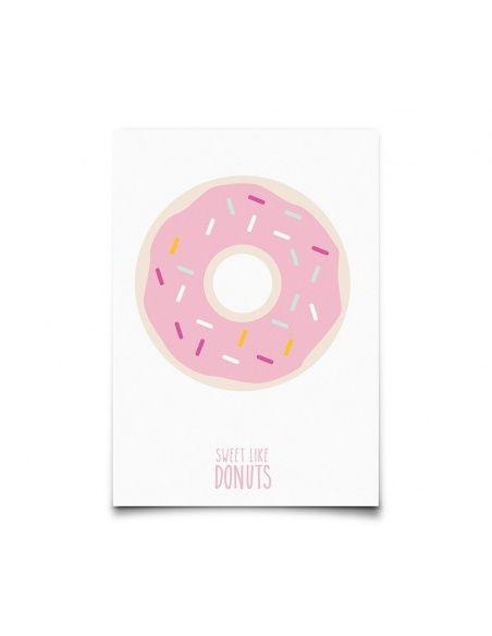 Postcard Sweet Like Donuts - Eef Lillemor