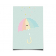 Postcard Pastelette Umbrella