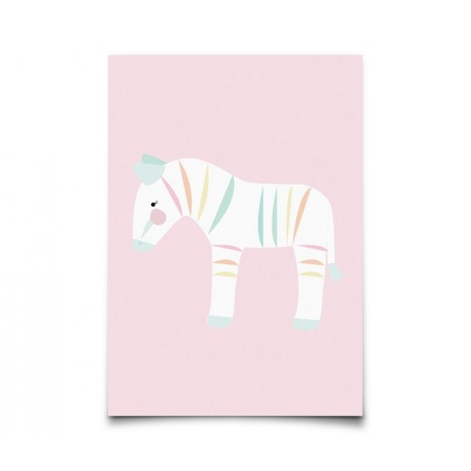 Postcard Pastelette Zebra - Eef Lillemor