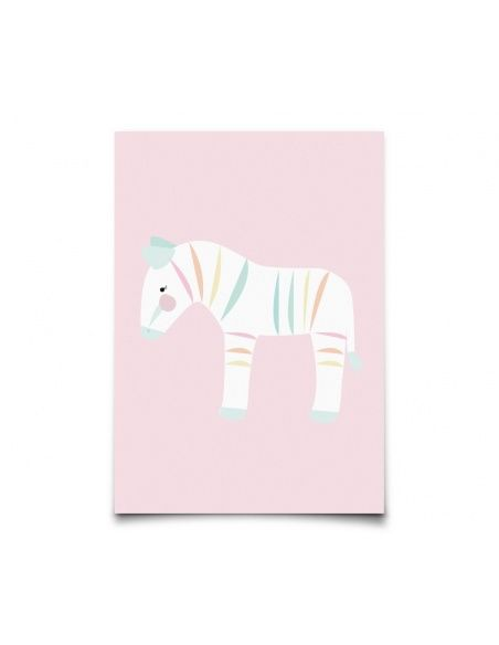 Kartka Pastelette Zebra - Eef Lillemor