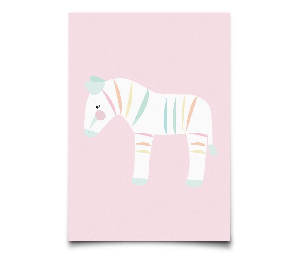 Postcard Pastelette Zebra