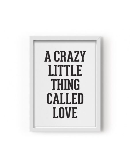 Plakat A Crazy Little Thing Called Love - Eef Lillemor