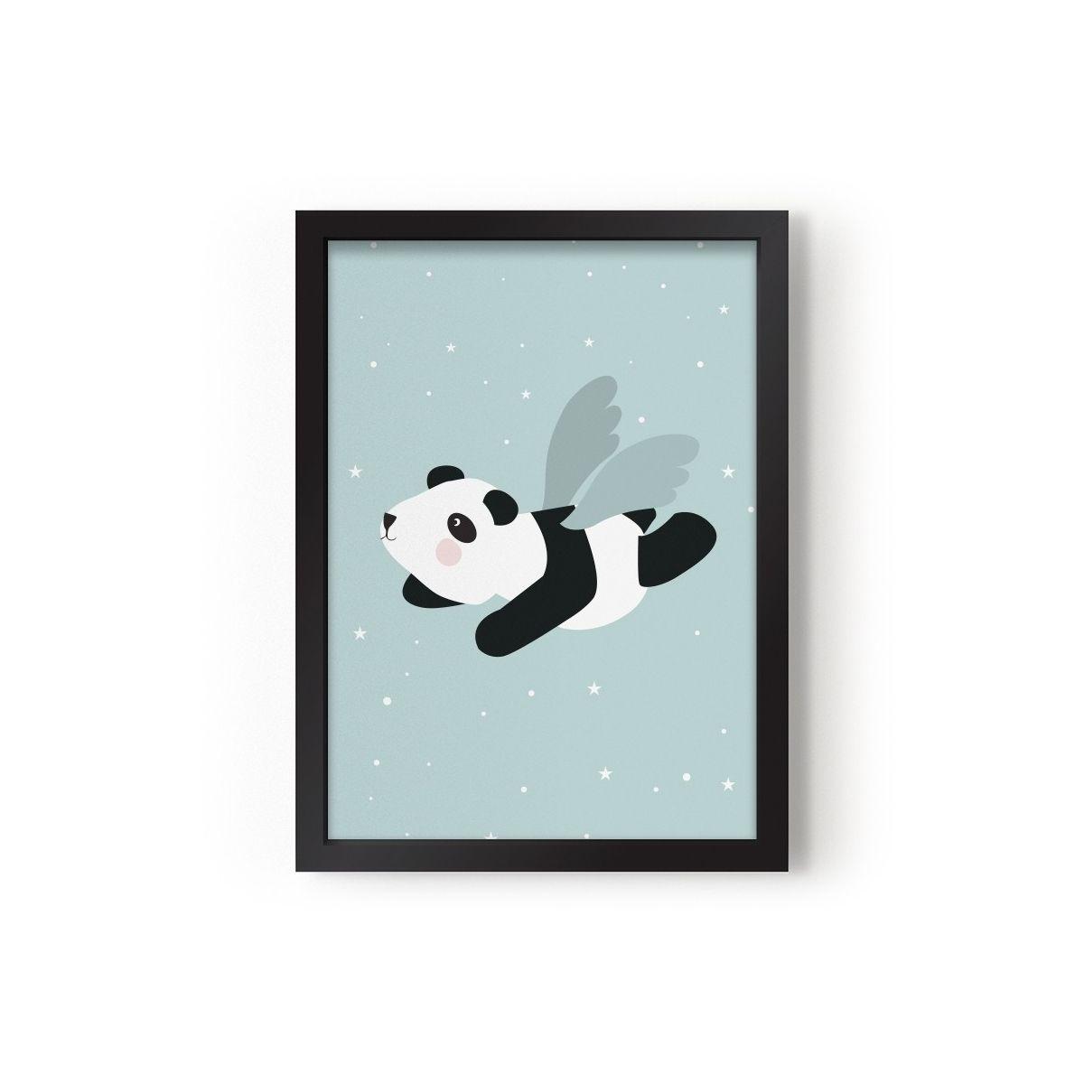 Poster Flying Panda mint - Eef Lillemor