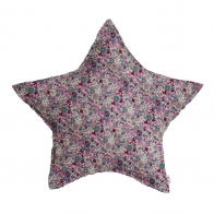 Star Cushion with colorful flowers
