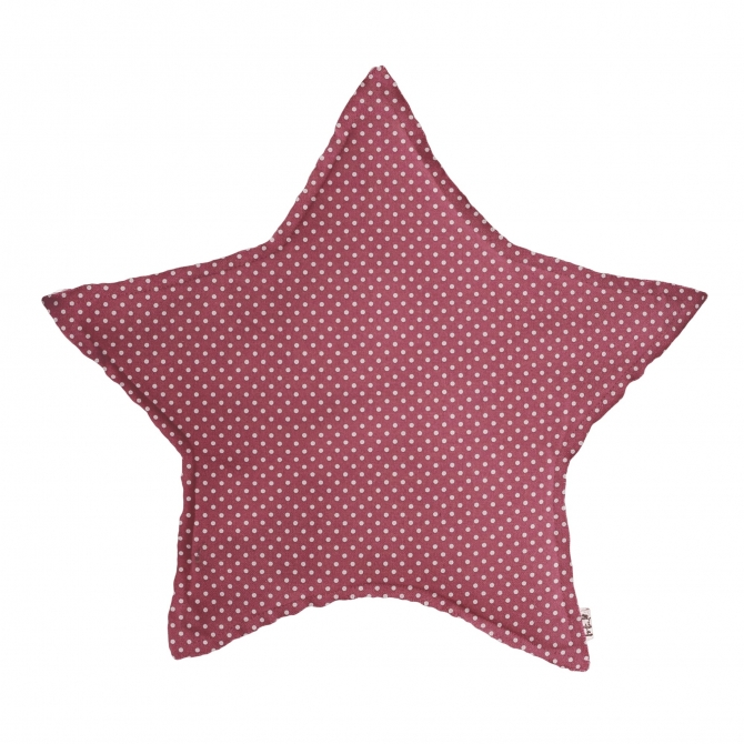 Numero 74 Star Cushion rose with white dots