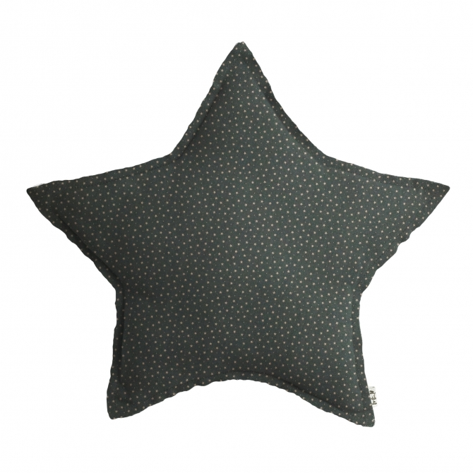 Numero 74 Star Cushion ice blue with grey stars