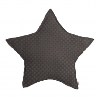 Star Cushion taupe with white small dots