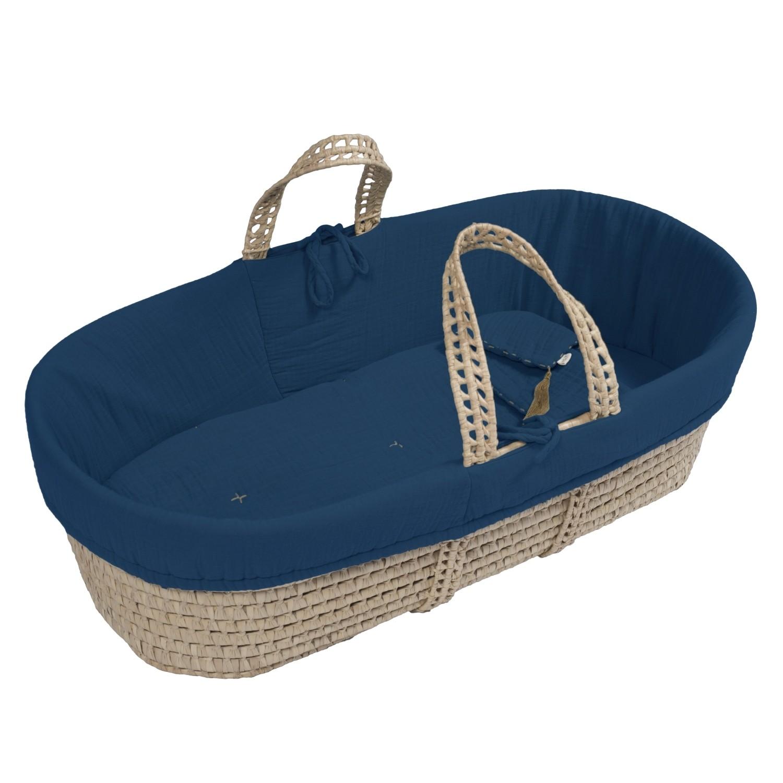 Koszyk Mojżeszowy dla dziecka ciemnoniebieski
