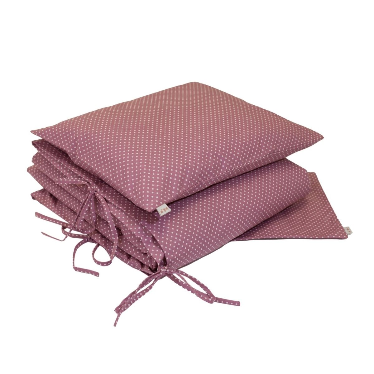 Duvet Cover Set med dots pink with cream dots - Numero 74
