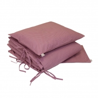 Duvet Cover Set med dots pink with cream dots