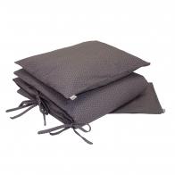Duvet Cover Set Stars grey