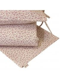 Duvet Cover Set Daisy cream with pink flowers - Numero 74