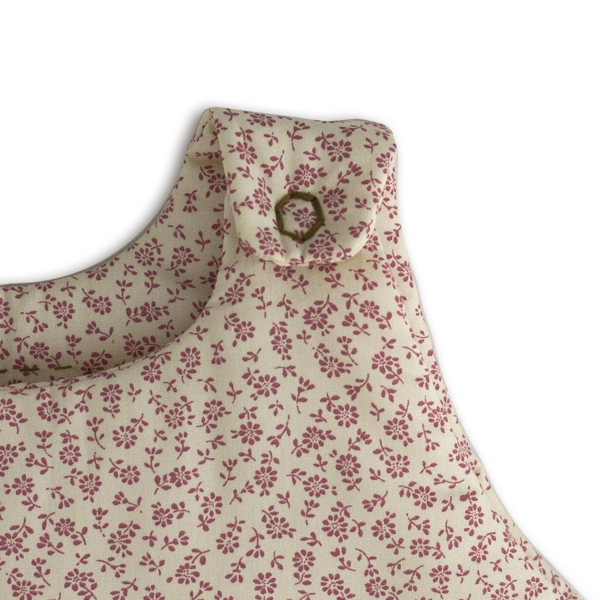 Sleeping bag Winter daisy cream with pink flowers - Numero 74