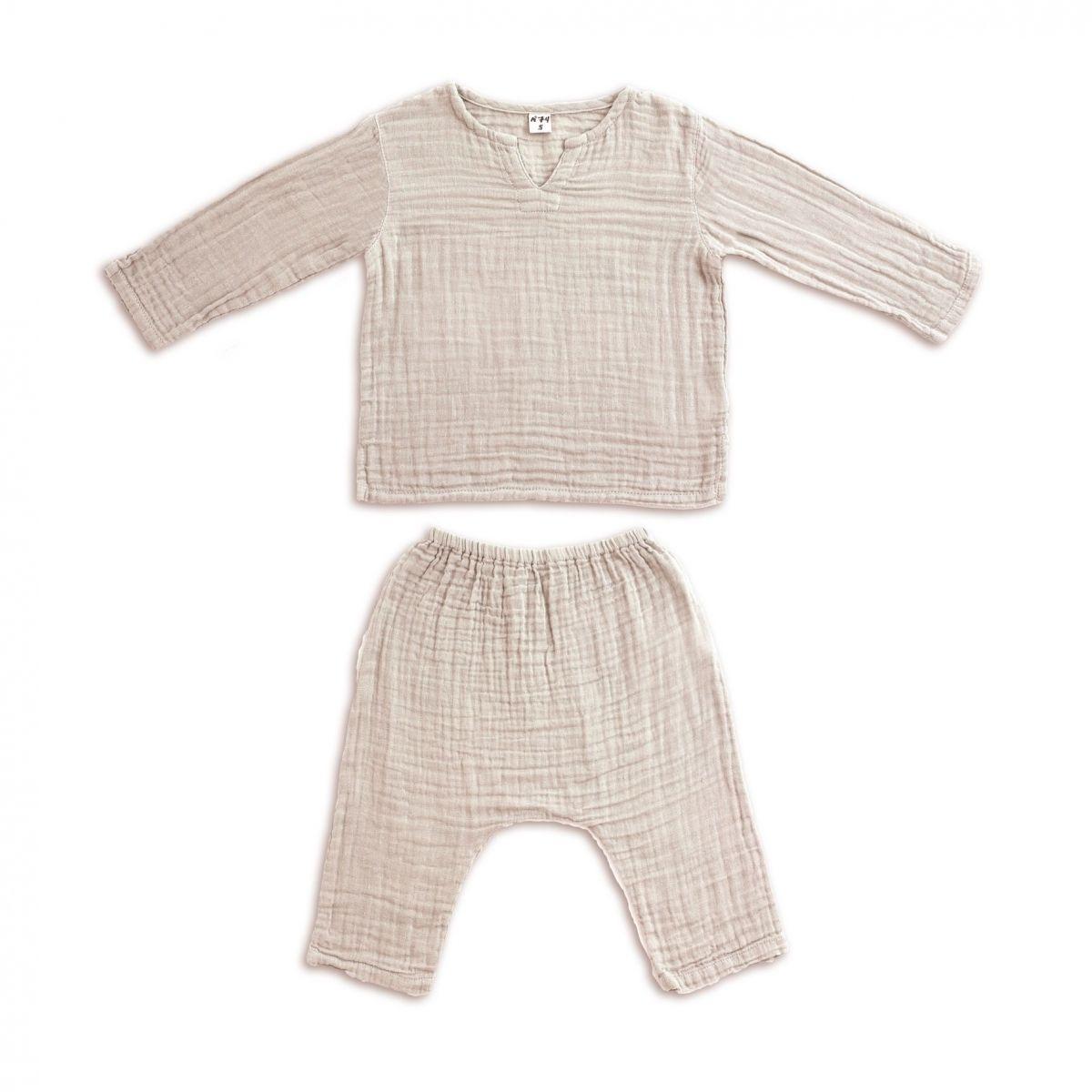 Suit Zac shirt & pants powder - Numero 74