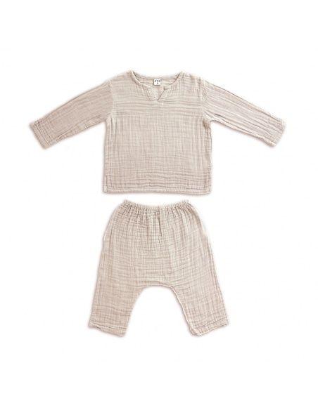 Numero 74 Suit Zac shirt & pants powder