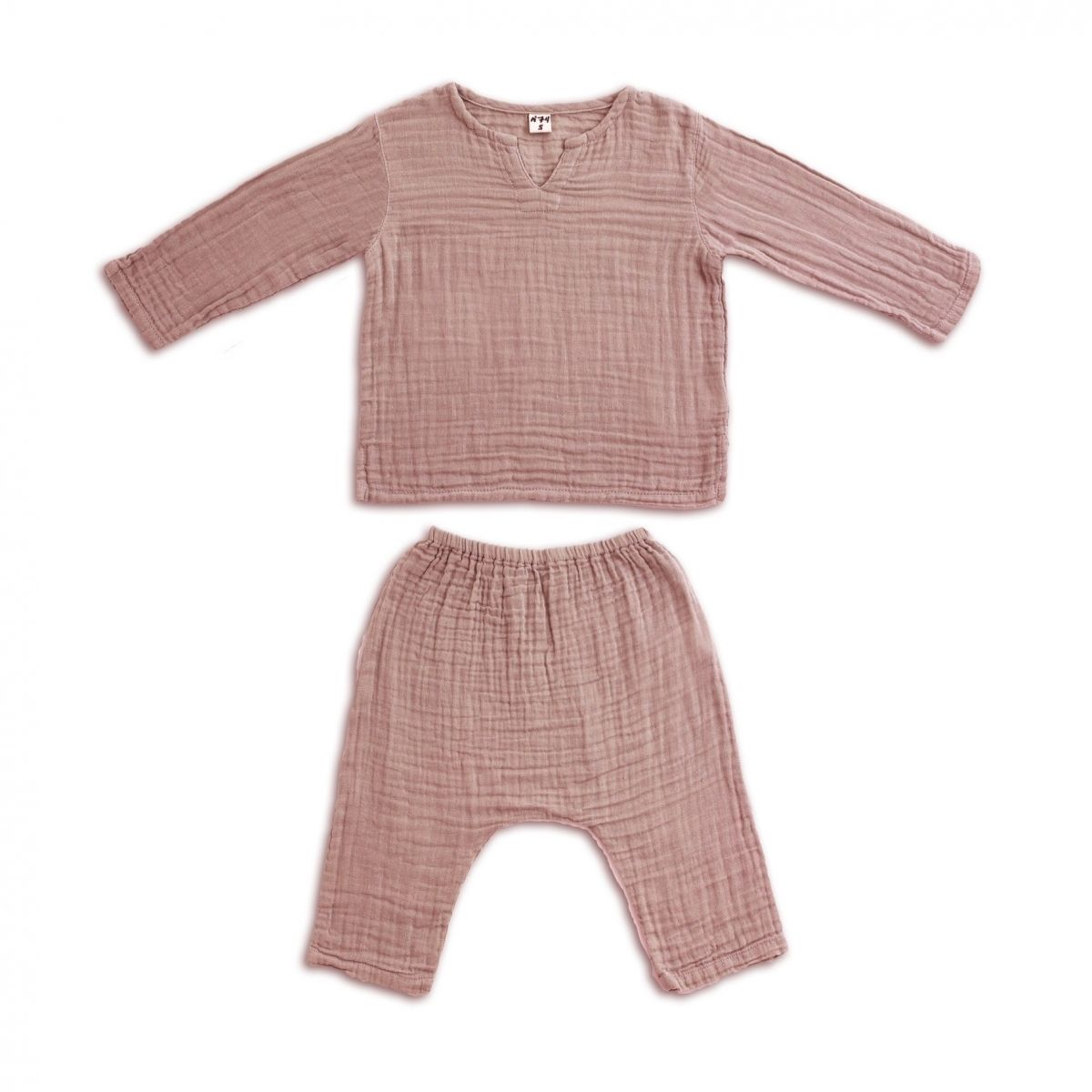 Komplet Zac koszulka & spodnie zgaszony róż - Numero 74