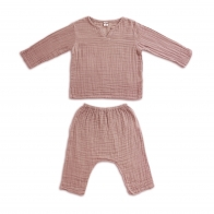 Suit Zac shirt & pants dusty pink
