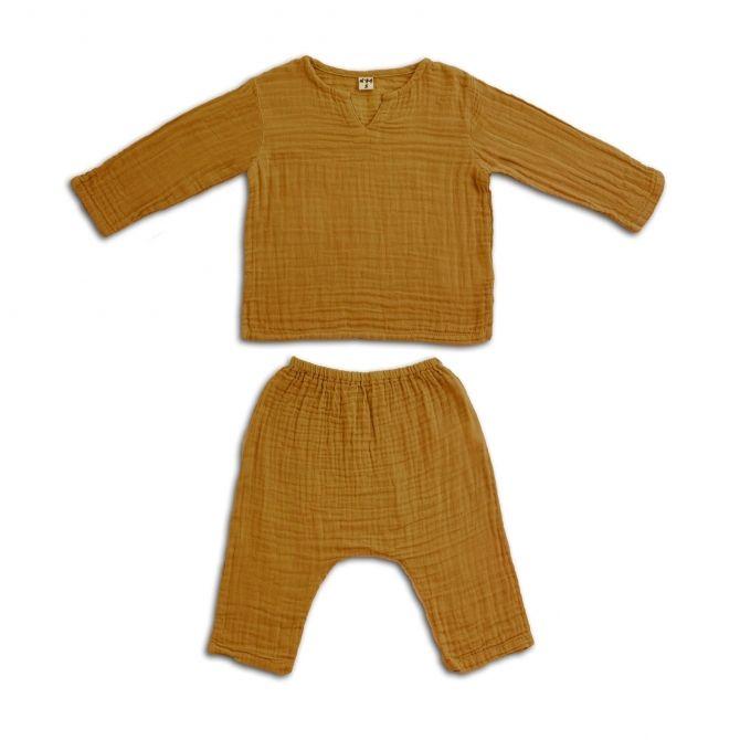 Numero 74 Komplet Zac koszulka & spodnie musztardowy