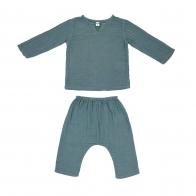 Komplet Zac koszulka & spodnie szaroniebieski