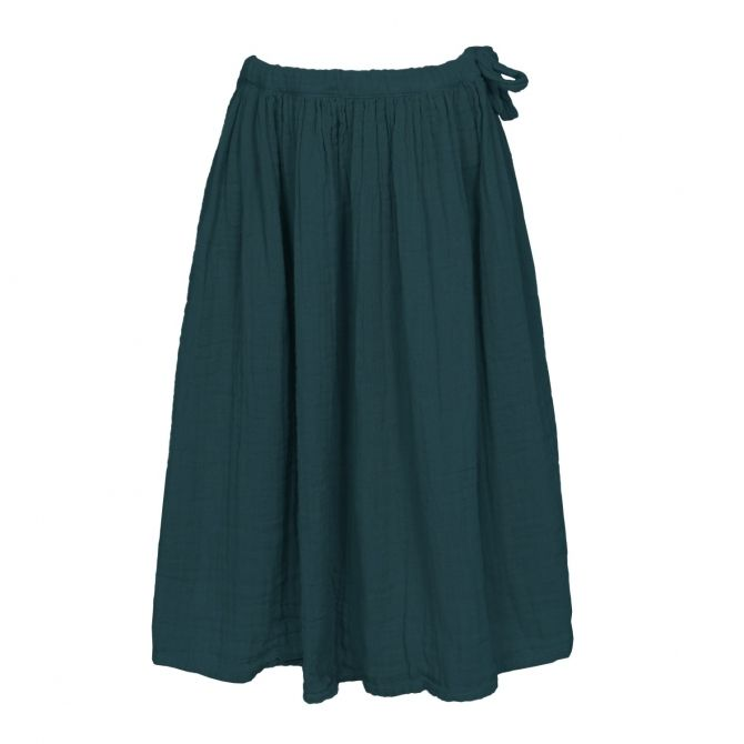 Skirt for girls Ava long teal blue - Numero 74