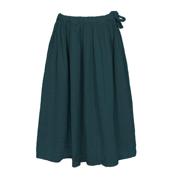 Numero 74 Spódnica dla dziewczynek Ava długa ciemna morska