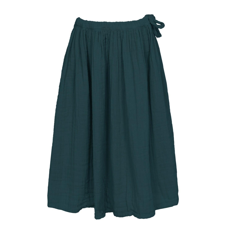 Skirt for girls Ava long teal blue
