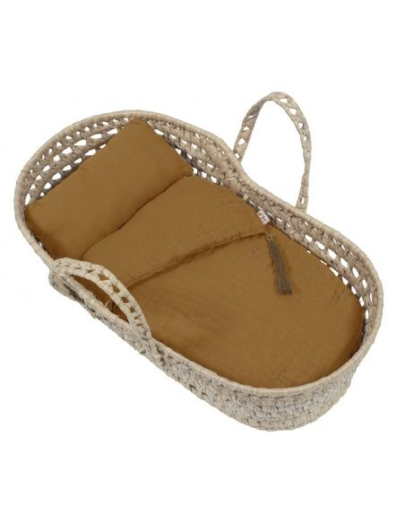 Numero 74 Doll basket bed linen gold