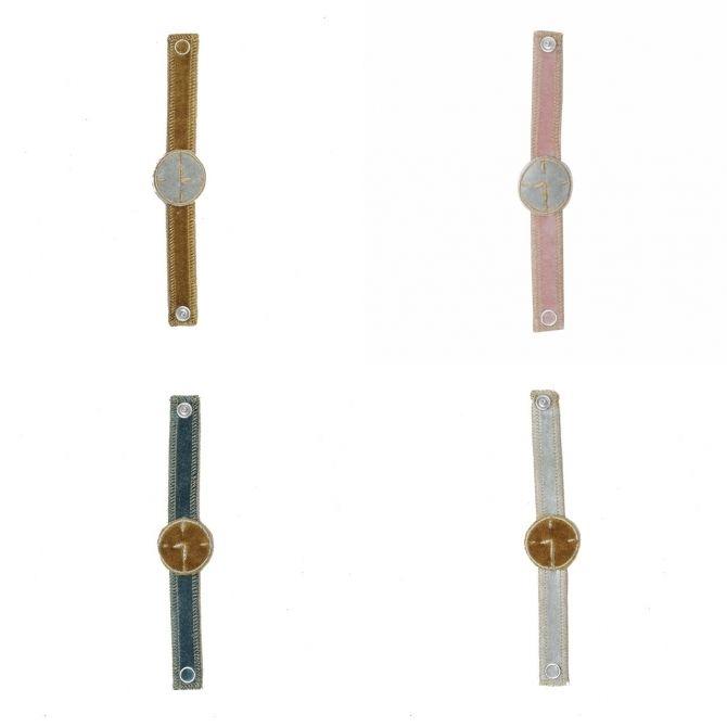 Zabawka Retro Zegarek z materiału - Numero 74