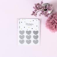 Stickers Heart silver
