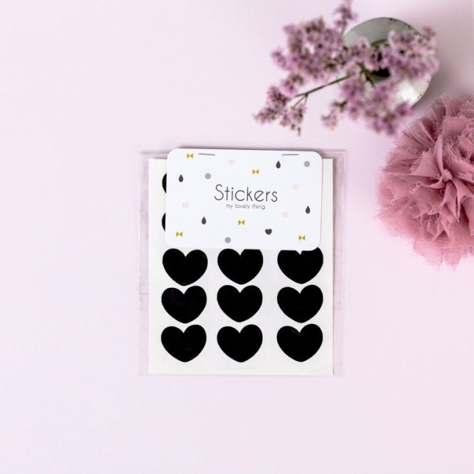 My Lovely Thing Stickers Heart black