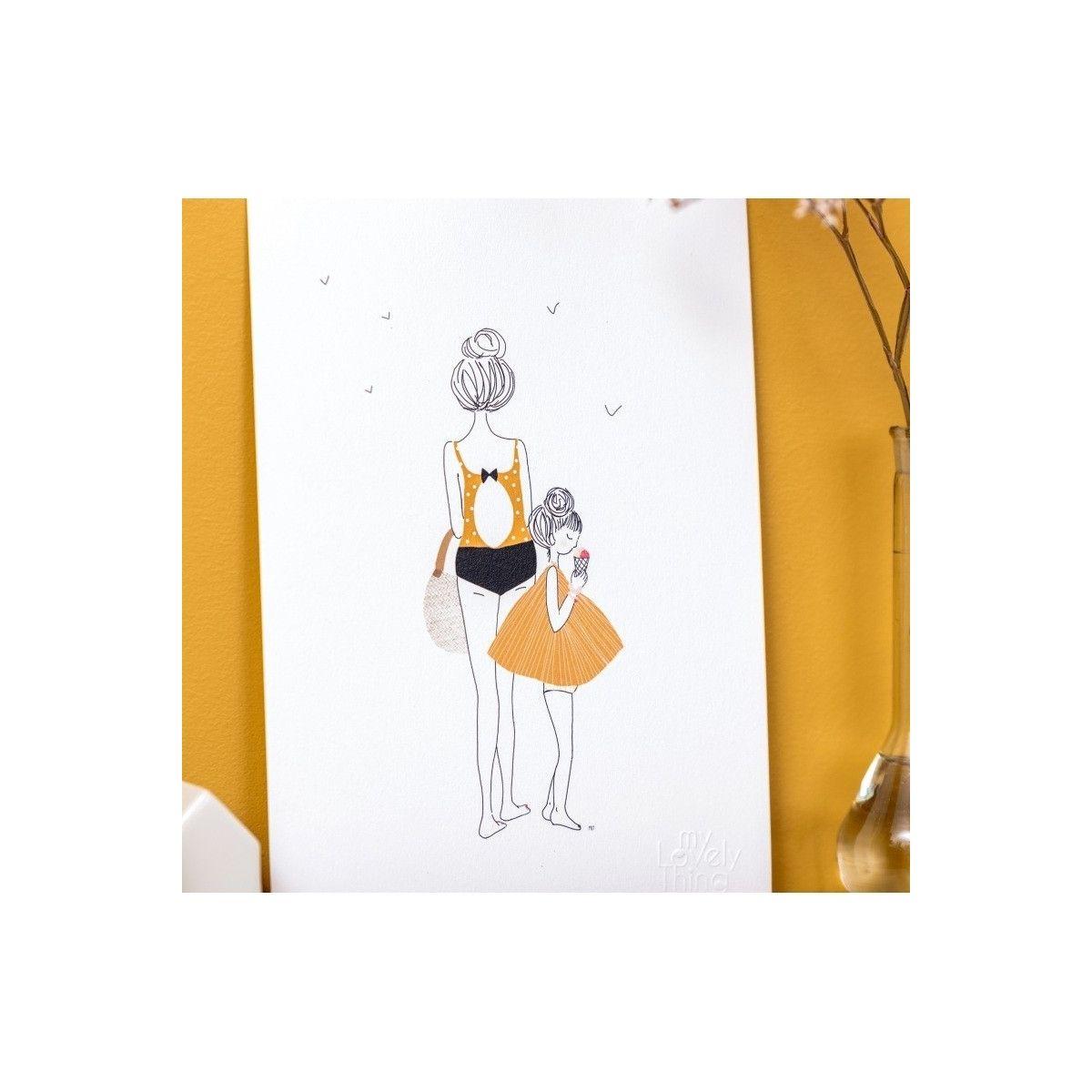 Plakat Stroll Mum and Girl - My Lovely Thing