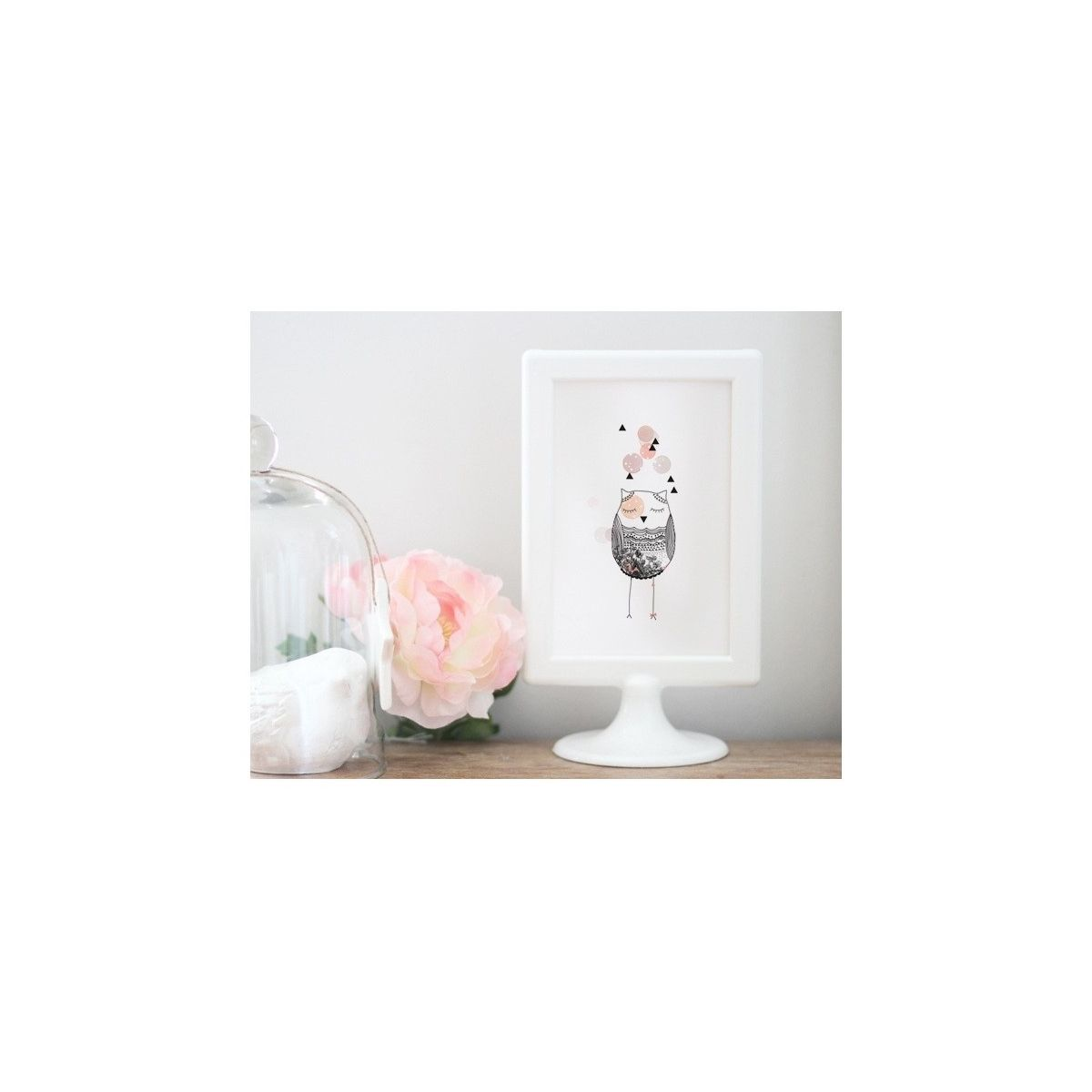 Postcard Owl pink - My Lovely Thing