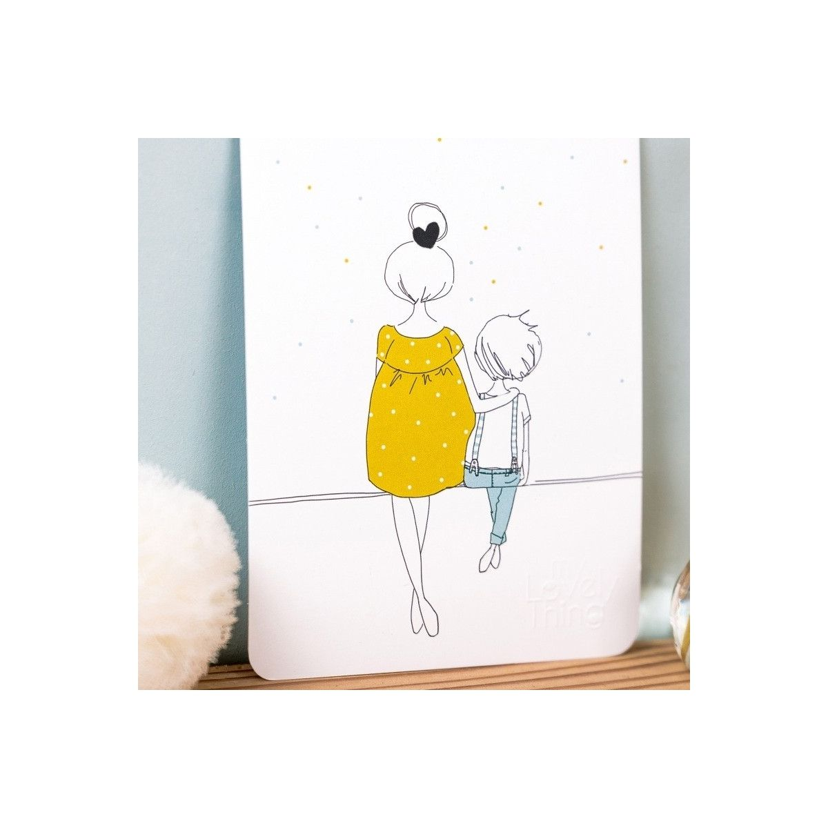 Kartka Love Mum and Boy lato - My Lovely Thing