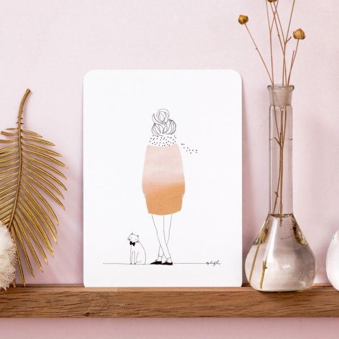 Kartka Postcard Delicatesse - My Lovely Thing