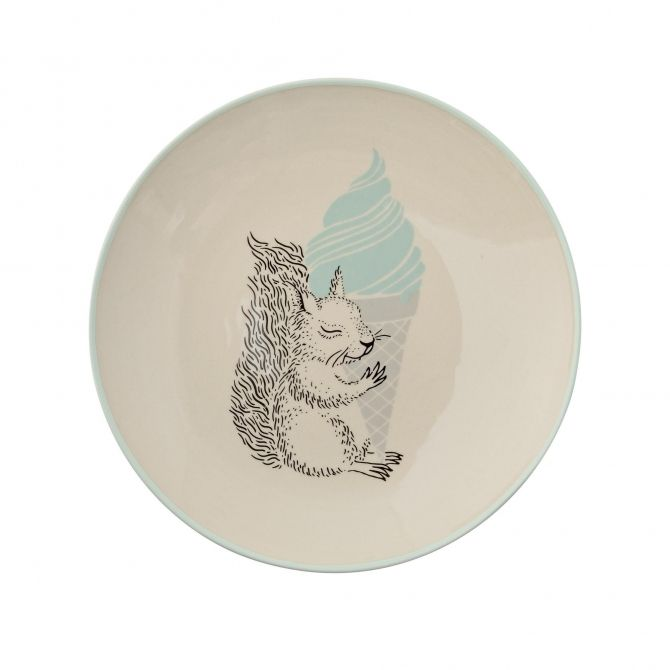Plate Albert off white/mint - Bloomingville