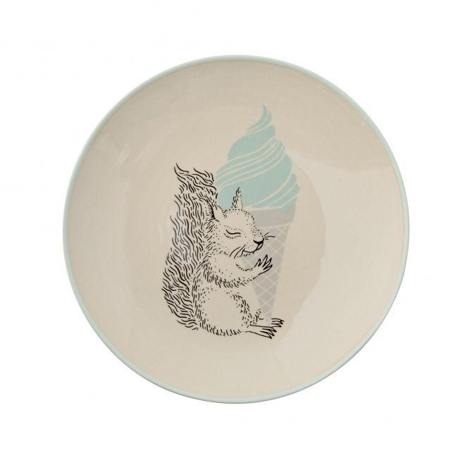 Bloomingville Plate Albert off white/mint