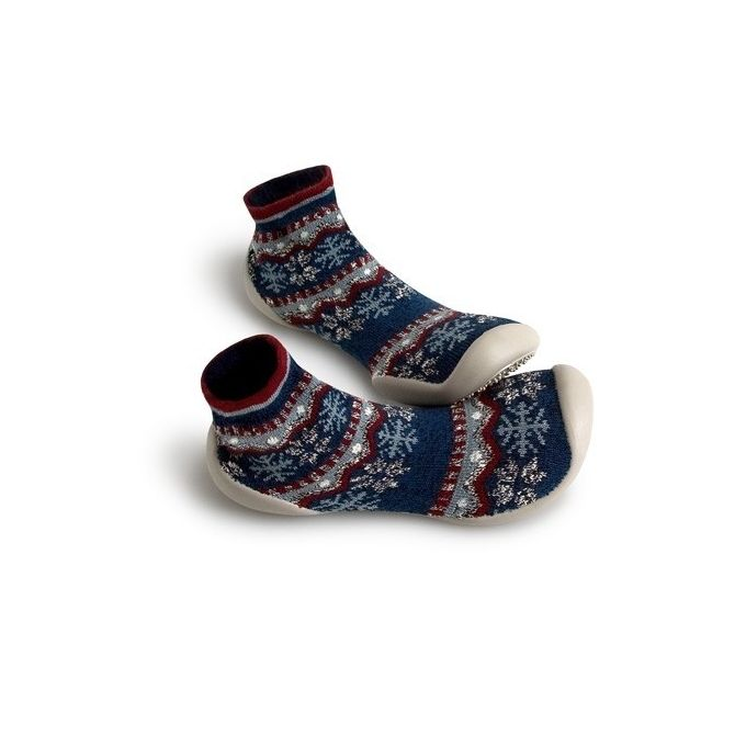 Slipper Socks Snowlflake dark blue - Collégien