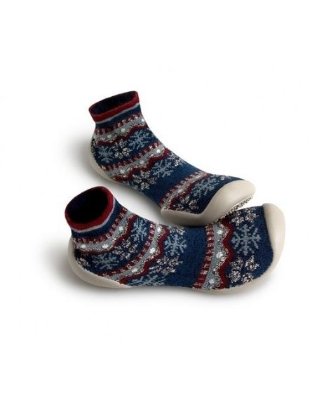 Collégien Slipper Socks Snowlflake dark blue
