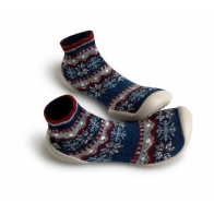 Slipper Socks Snowlflake dark blue