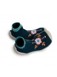 Collégien Slipper Socks Flower Power navy