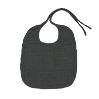 Baby Bib Round dark grey
