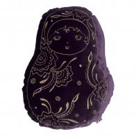 Matrioska Cushion velvet sweet aubergine