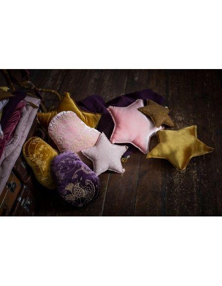 Matrioska Cushion velvet sweet aubergine - Numero 74