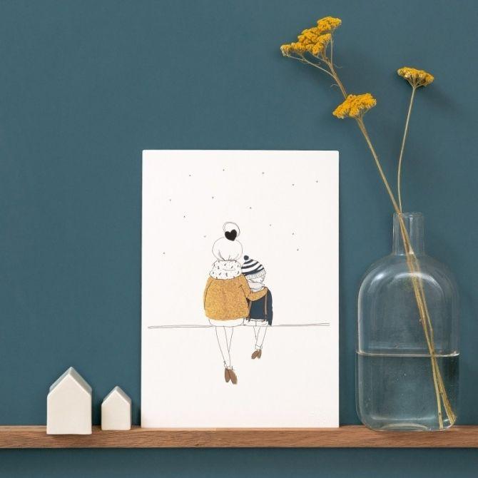 Plakat Love Mum and Boy zima My Lovely Thing Home & Design