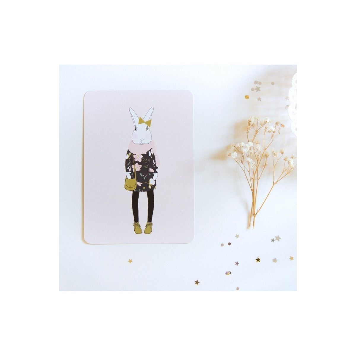 Postcard Joséphine winter - My Lovely Thing