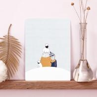 Postcard Under the Snow Boy