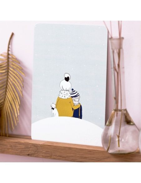 Postcard Under the Snow Boy - My Lovely Thing